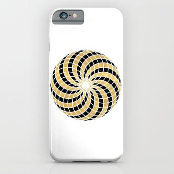 BLACK AND GOLD TORUS circular sacred geometry iPhone & iPod Case by deificus Art