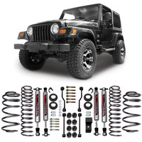 "Jeep® Lift Kits - Rough Country Suspension Systems® - RC PERF641 - Rough Country® 3.25"" Suspension Kit for 97-06 Jeep® Wrangler and other Jeep Wrangler Parts, Jeep Accessories and Soft Tops by FORTEC"