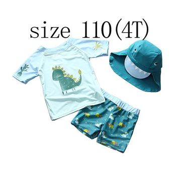 Mioigee Summer Baby Swimwear Lovely Children Boys Swimming Suit 3pcs Kids Swimsuit Toddlers Clothes 2018 Baby Beachwear Outfits