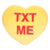 Text Me Candy Heart Pillow