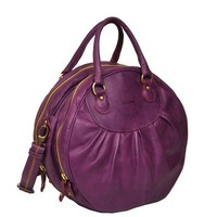 Selini a leather handmade handbag in Viola by iyiamihandbags