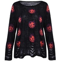 'King of the pumpkin patch' Ripped style top