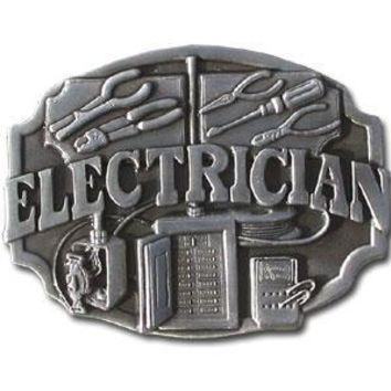 Sports Accessories - Electrician Antiqued Belt Buckle