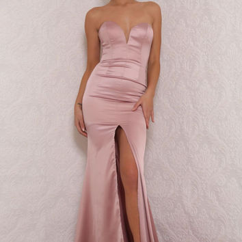 Milan Gown Blush Pink
