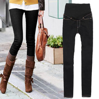 adjustable maternity skinny jeans pregnant woman belly pants