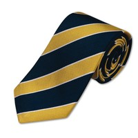 Woven navy and gold club stripe tie | Men's woven silk ties from Charles Tyrwhitt | CTShirts.com