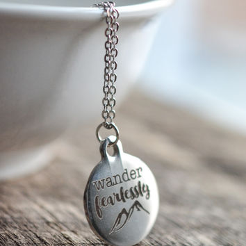 Wander Fearlessly Necklace