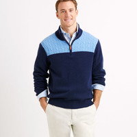 Cashmere Cable 1/4-Zip Sweater