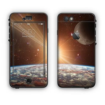 The Earth, Moon and Sun Space Scene Apple iPhone 6 Plus LifeProof Nuud Case Skin Set