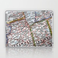 Midwest Map USA Laptop & iPad Skin by SOKAartcanada
