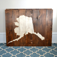 Wood State Sign - Hanging Wall Art - Alaska - Michigan - Washington - California