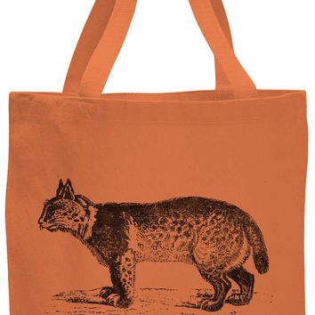 Austin Ink Apparel American Bobcat Cotton Canvas Tote Bag