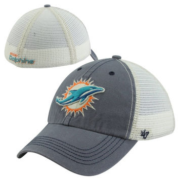 47 Brand Miami Dolphins Caprock Canyon Flex Hat - Natural Navy Blue