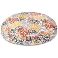 Citrus Blooms Round Dog Bed by Majestic Pet Products