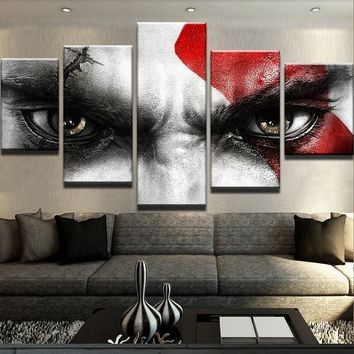 Kratos God of War Five Piece Canvas