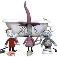 NECA The Nightmare Before Christmas Action Figure Boxed Set Lock, Shock, Barrel Bath Tub