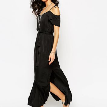 River Island Cold Shoulder Maxi Dress