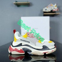 Cheapest Balenciaga Triple S Cream Yellow Red shoe