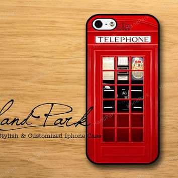 Vintage London British Phone Booth iPhone 5 Case, iPhone Case, Case for iPhone 5, iPhone 5 Cover, iPhone Hard Case