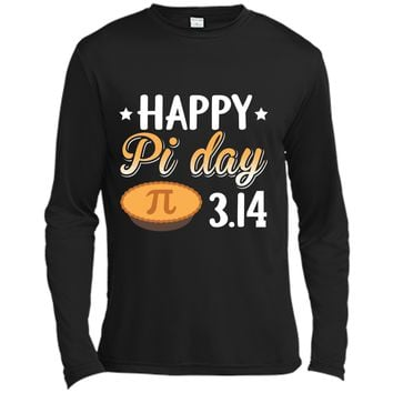 Happy Pi Day  Love Math Funny  Long Sleeve Moisture Absorbing Shirt