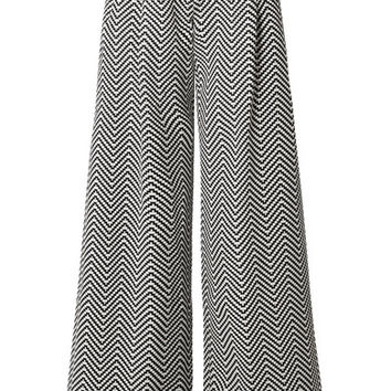 House of Holland - Cotton-blend jacquard wide-leg pants
