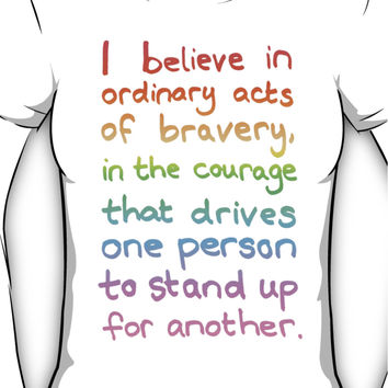 Ordinary Acts of Bravery - Divergent Quote  Women's T-Shirt
