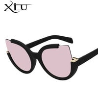 XIU Round Shade Summer Fashion Sunglasses Women Vintage Brand Designer Glasses For Ladies Gafas Retro Oculos UV400