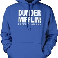 Dunder Mifflin Paper Inc Sweatshirt, The Office Hoodies, TV show Sweatshirts, Small, Royal Blue