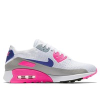 Nike Air Max 90 Ultra 2.0 Flyknit – White / Concord / Laser Pink / Black