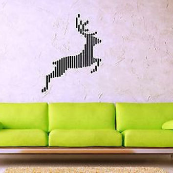 Wall Stickers Vinyl Decal Deer Moose Animal Abstract Style ig1474
