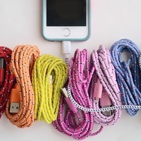 10 Ft. Bungee iPhone Cables for iPhone 4 and 5!