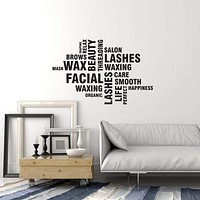 Vinyl Wall Decal Beauty Salon Interior Decor Words Cloud Spa Stickers Mural (ig5775)