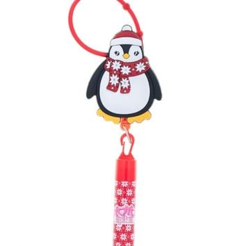 HOLIDAY PENGUIN YOYO LIP BALM | GIRLS LIP GLOSS BEAUTY | SHOP JUSTICE