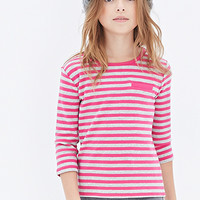 Mock Pocket Striped Top (Kids)