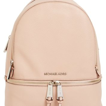 MICHAEL Michael Kors 'Small Rhea Zip' Leather Backpack | Nordstrom