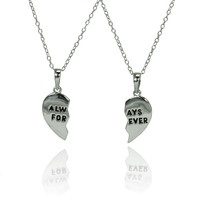 .925 Sterling Silver Always Forever  Necklace