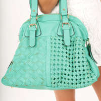 One More Try Purse: Seafoam