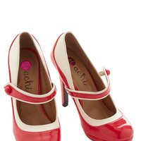 ModCloth Pinup 'S Marvelous Heel in Scarlet