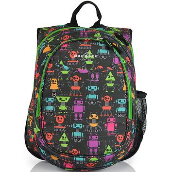 Obersee Kids Pre-School All-In-One Backpack With Cooler - Robots