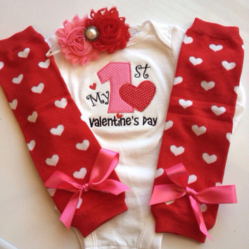 Baby Girl 1st Valentine's Day Outfit