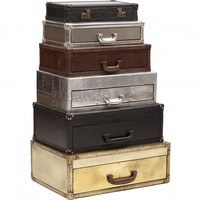 Regiment Suitcase Stack Chest - Storage - Furniture