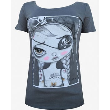Kiera Womens Scoop Neck Tee by Artist Dottie Gleason