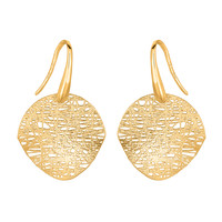 Birds Nest Weave Inspired Earrings In 14K Gold