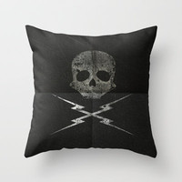 Death Proof Throw Pillow by Vinicius Acquesta