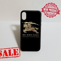 Special Luxury Burberry.0x Logo Fit Hard Case For iPhone 6 6s 7 8 Plus X Cover +