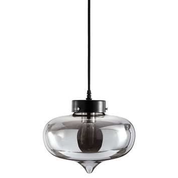Melody 1-Light Pendant, Smoke, Ceiling Chandeliers