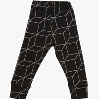 Nununu Grid Leggings in Black - NU0653