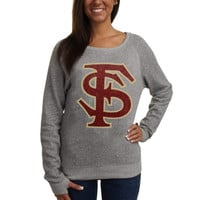 Florida State Seminoles :FSU: Ladies Knobi Fleece Sweatshirt - Gray