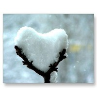 Ice Heart Post Card from Zazzle.com