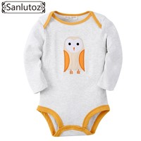 Sanlutoz Winter Baby Clothing Infant Newborn Baby Rompers Owl Pattern for Girls Boys Baby Clothes Long Sleeve Jumpsuits